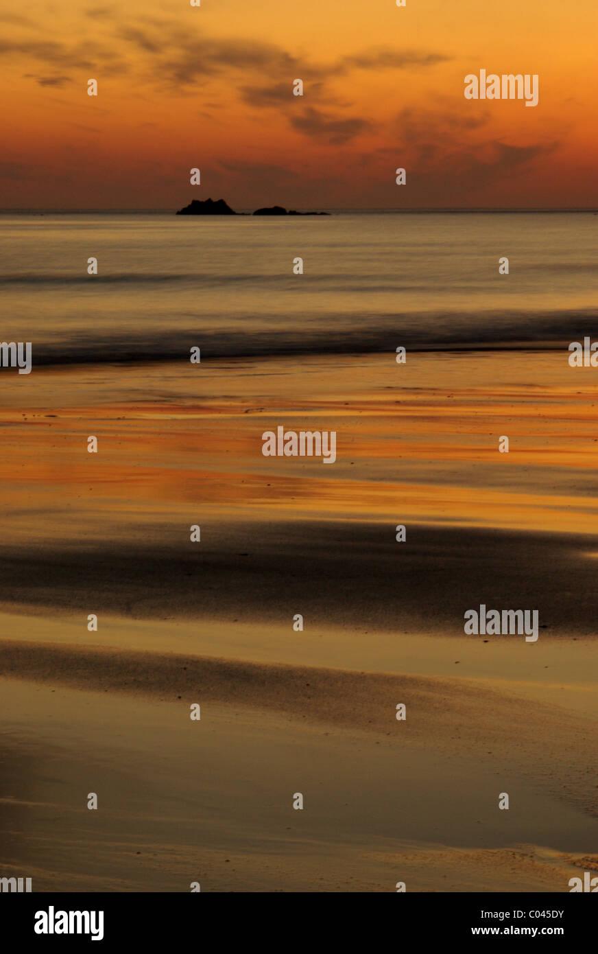 Scottish coastal sunset Stock Photo