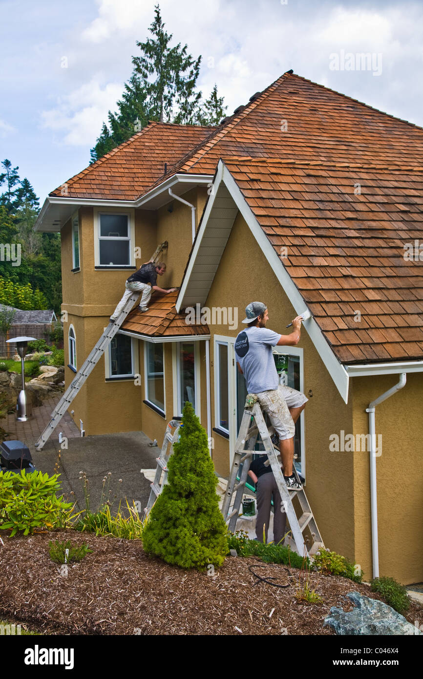 Painting House Exterior Stock Photos & Painting House Exterior Stock ...