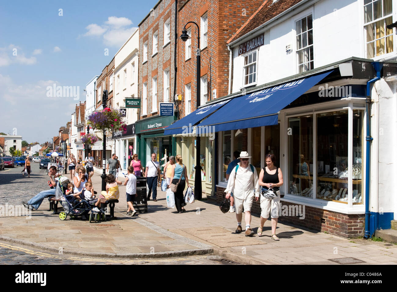 Thame High Street - Oxfordshire - Stock Image