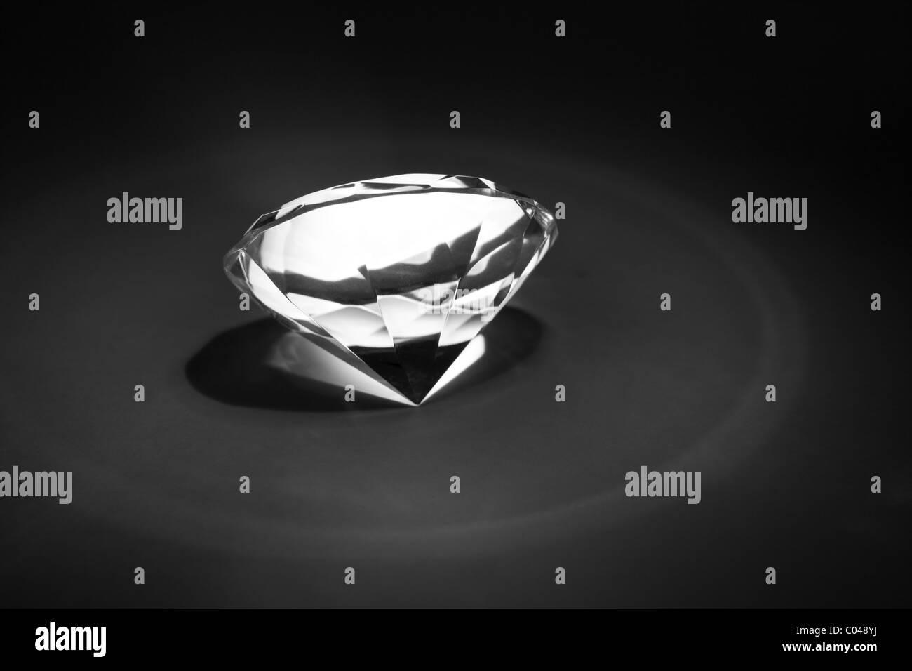 Diamond close up shot - Stock Image