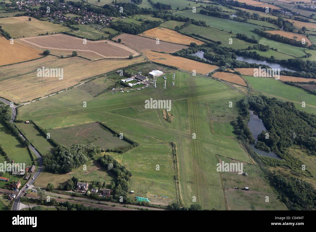 Derby flying club near to Hatton Derbyshire UK - Stock Image