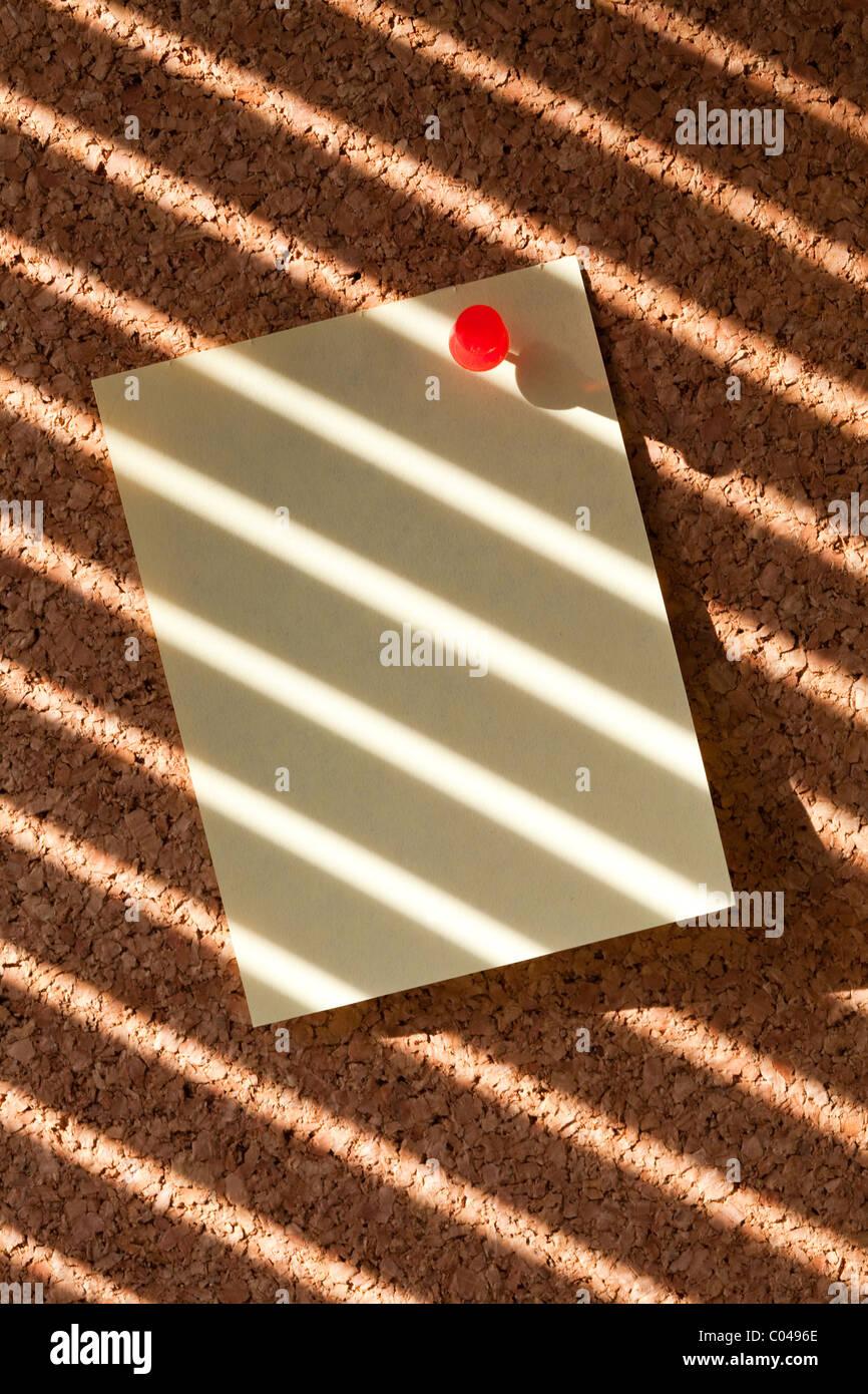 Notepaper on Corkboard for background - Stock Image