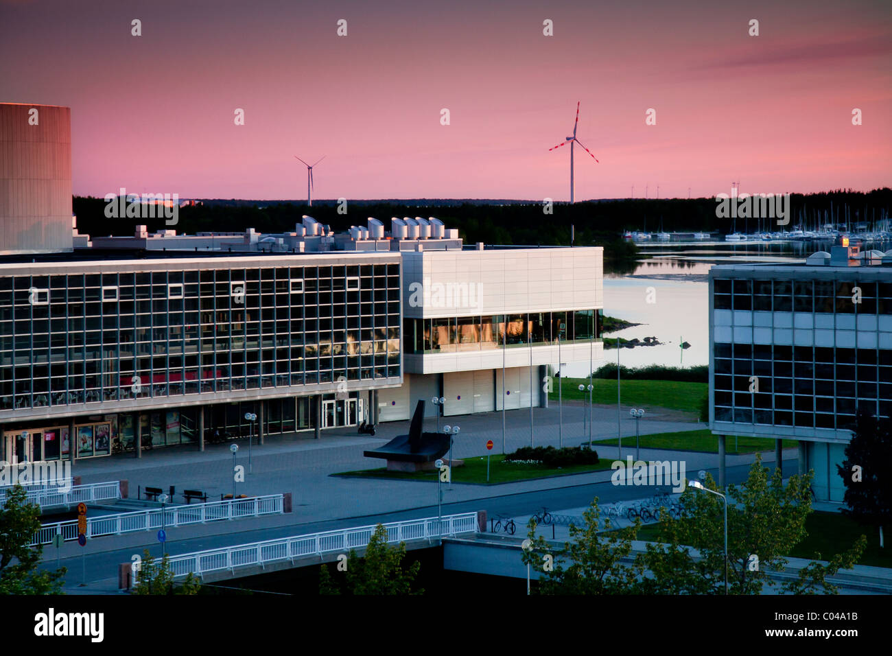 Shot in Oulu Finland at 11:30 in the evening. - Stock Image