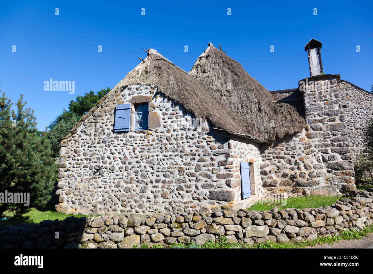 Stone Cottage In Moudeyres Village In Haute Loire France Stock Photo Alamy