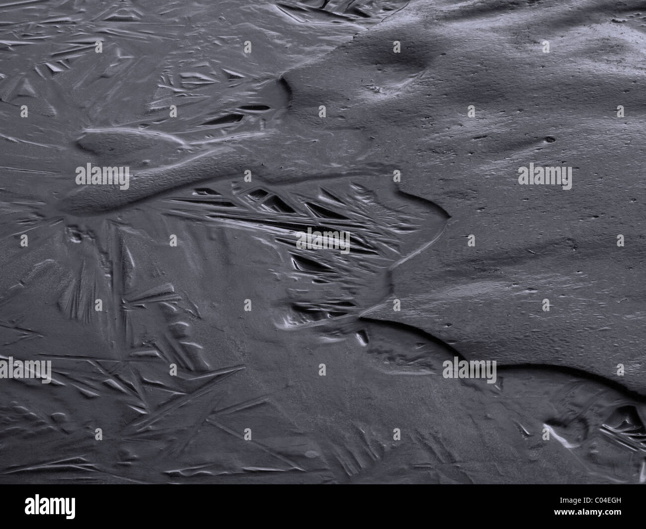 Ice like a metal - Stock Image