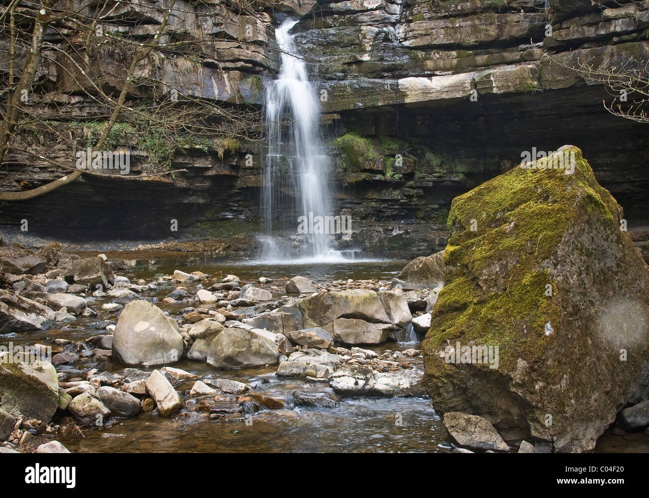 Summerhill Force at Gibson's Cave in Upper Teesdale. - Stock Image