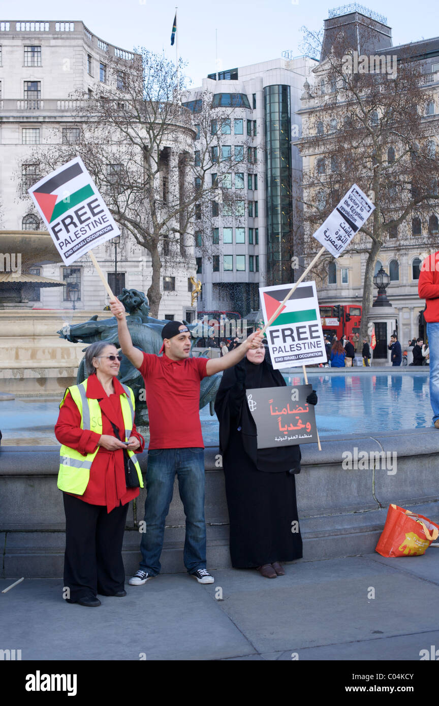 Free Palestine at a rally for Amnesty International supporters and Egyptian activists - Stock Image