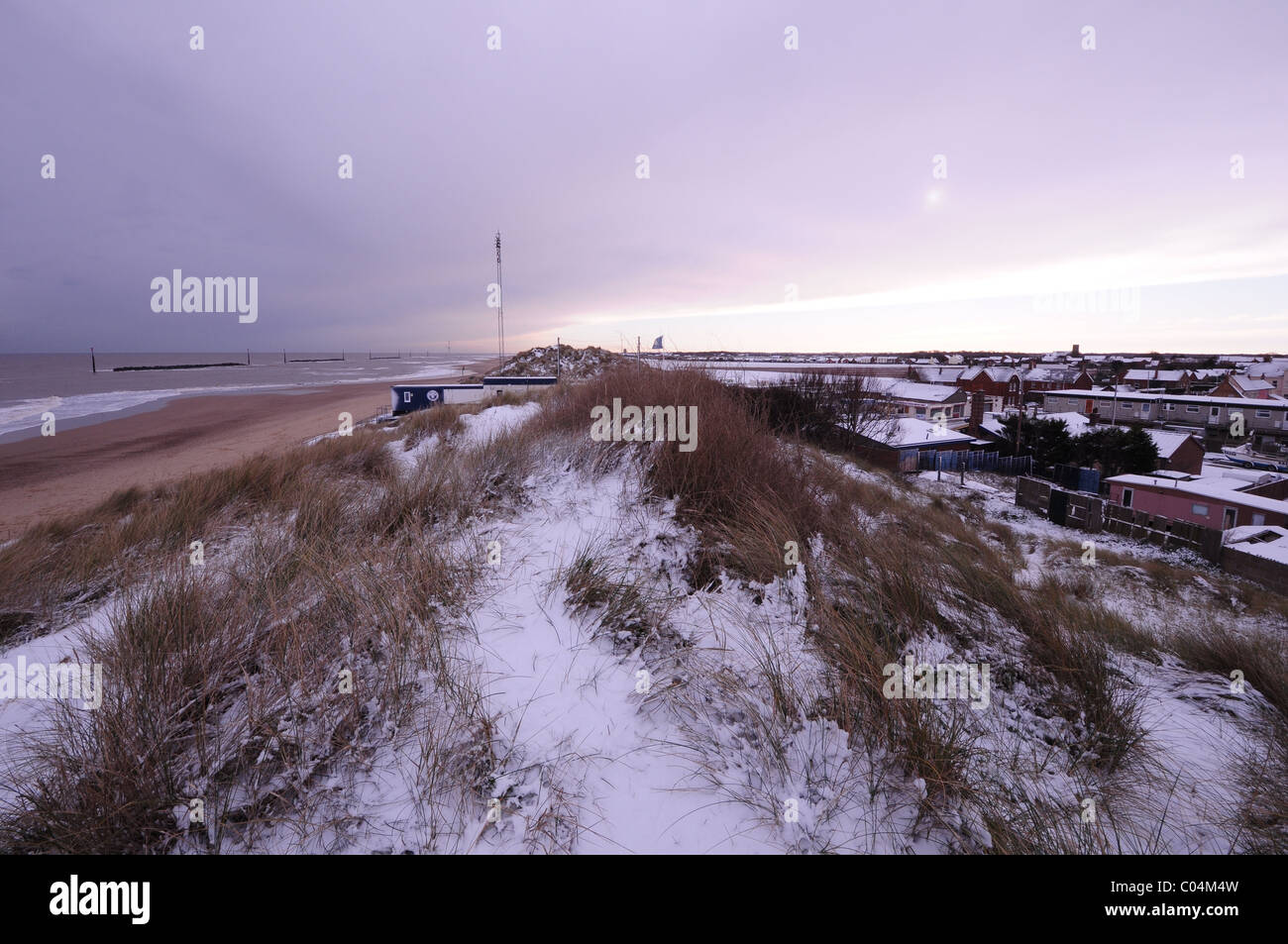 The marram dunes at Sea Palling, north-east Norfolk. - Stock Image