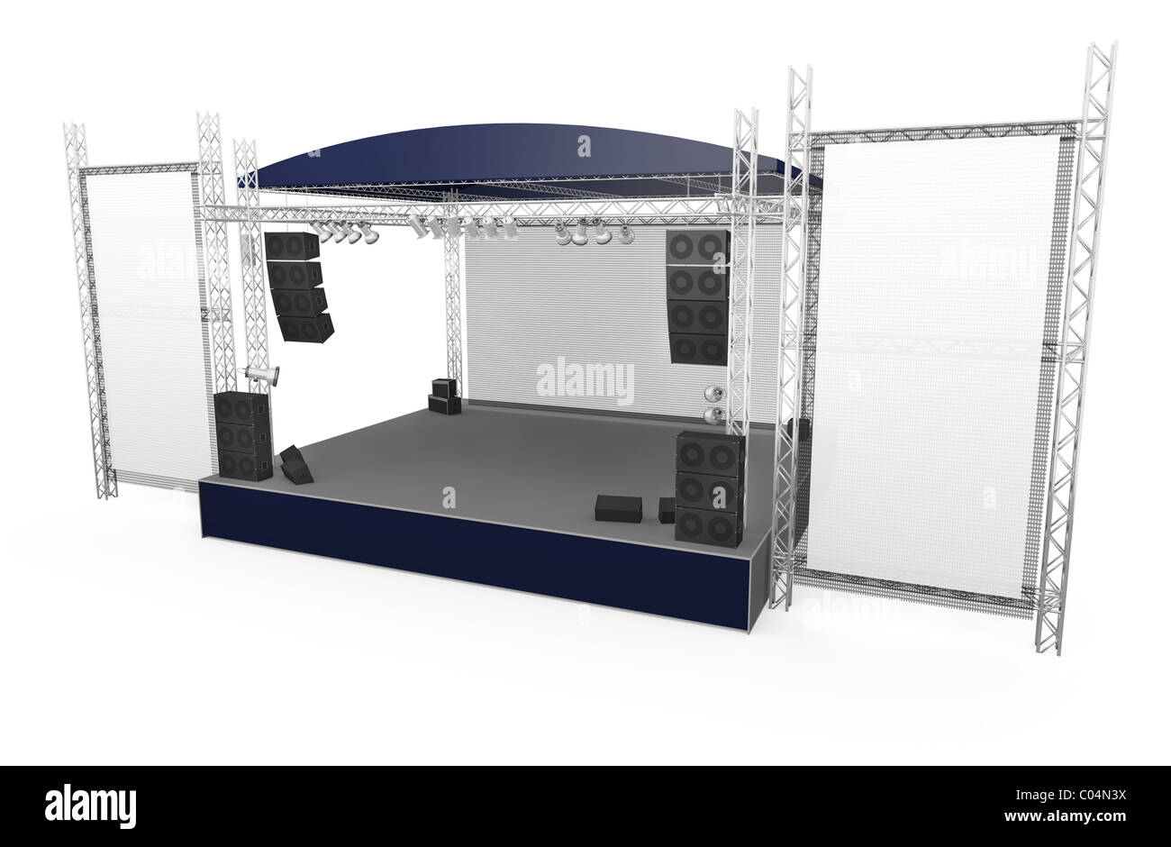 Large Outdoor Stage Stock Photo