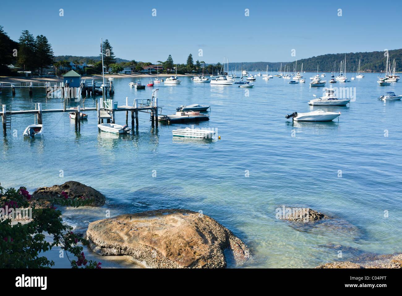 Palm Beach Ferry Jetty and Beach near Sydney - Stock Image