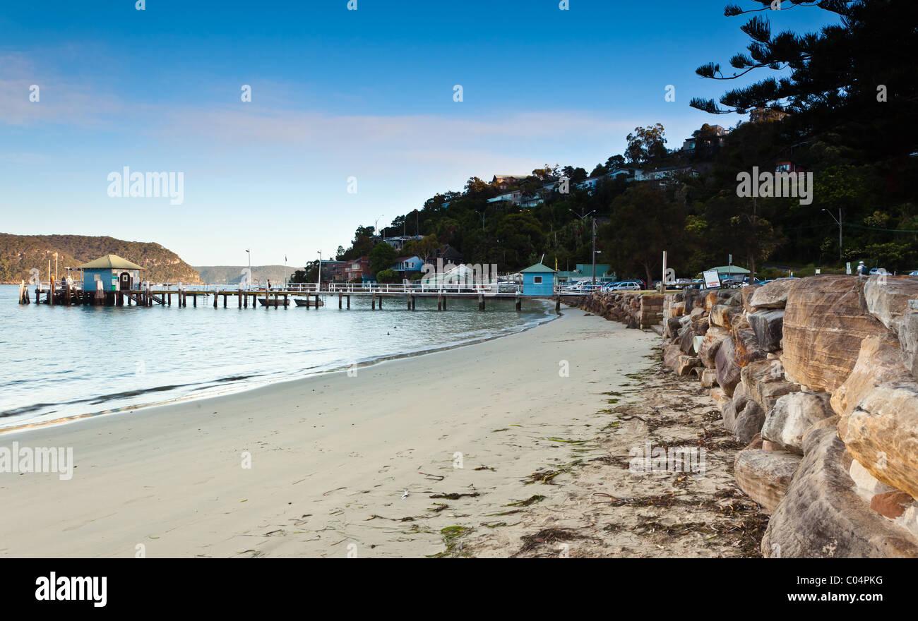Palm Beach Jetty north of Sydney - Stock Image