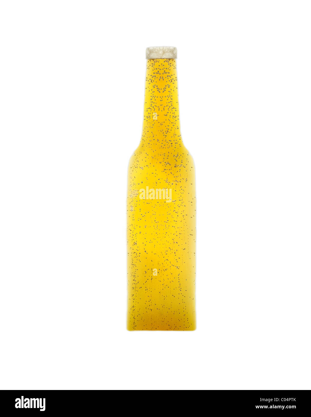 Naked beer on white isolated on ehite background Stock Photo