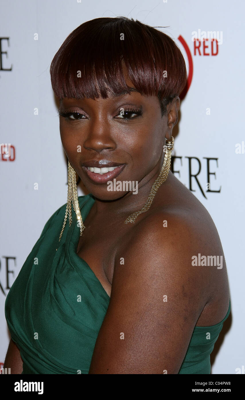 ESTELLE BELVEDERE RED LAUNCHES WITH USHER HOLLYWOOD LOS ANGELES CALIFORNIA USA 10 February 2011 - Stock Image