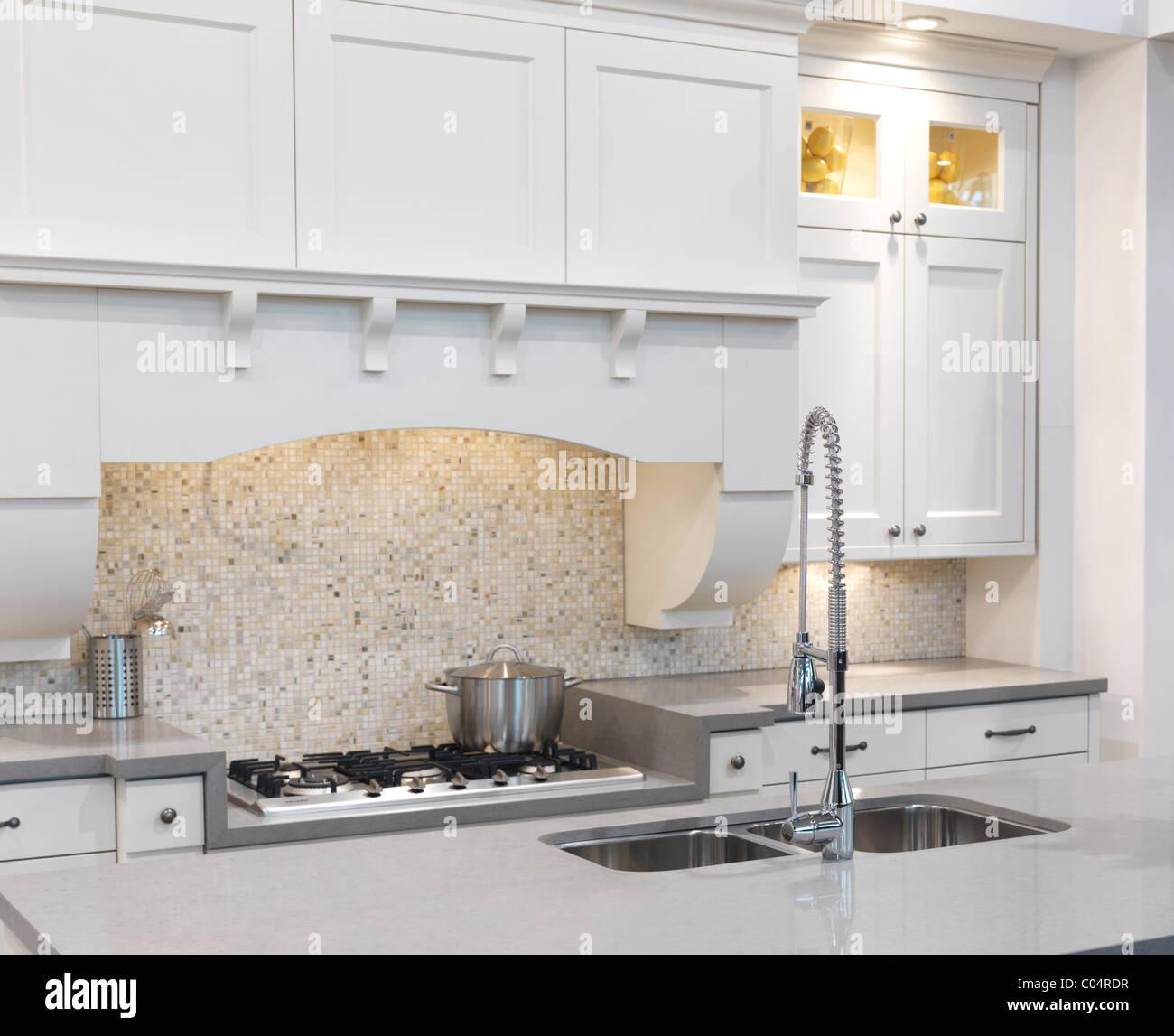 Modern kitchen interior design - Stock Image