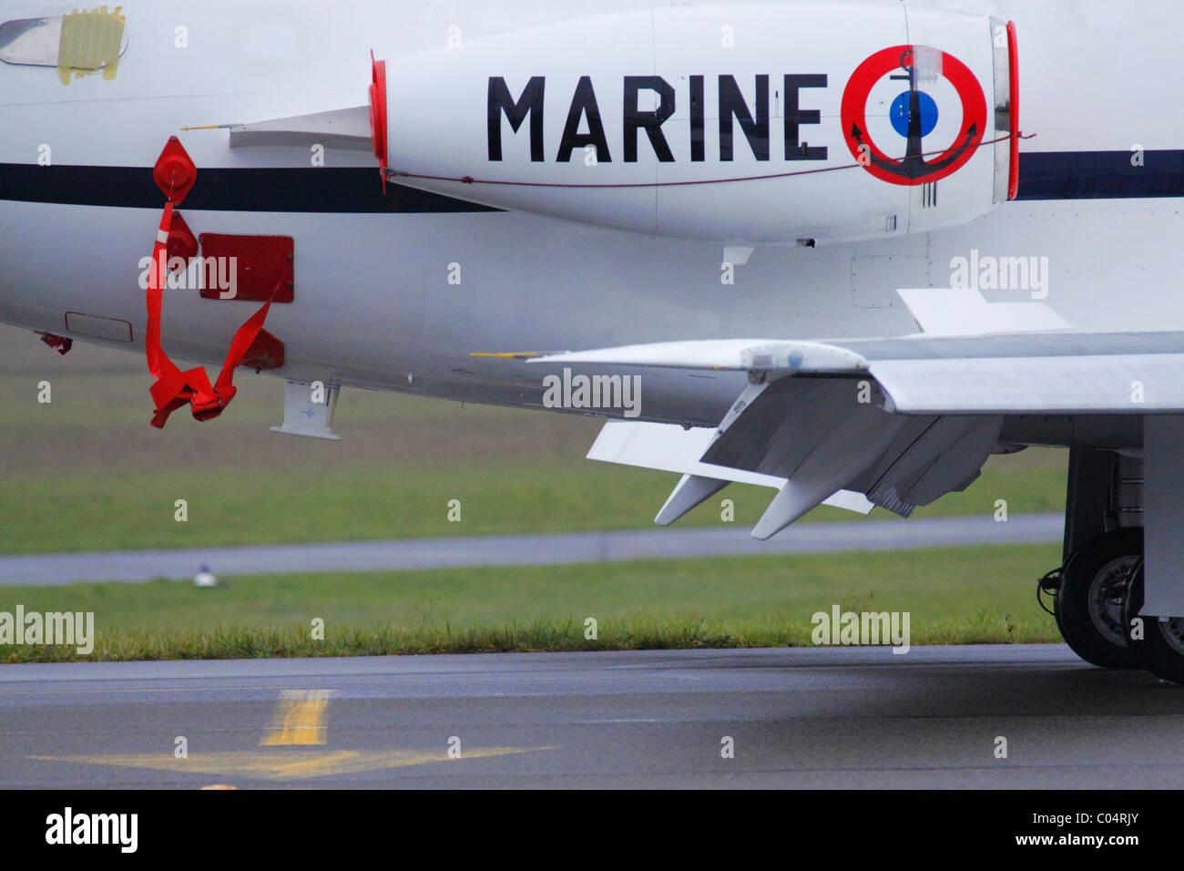 french military airplane marine - Stock Image