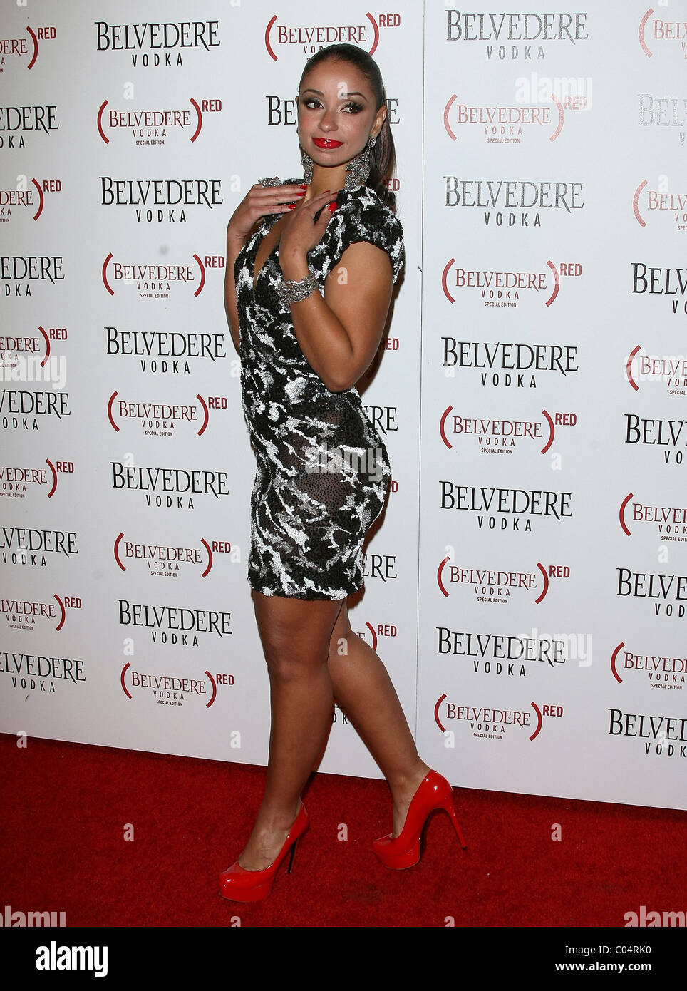 MYA BELVEDERE RED LAUNCHES WITH USHER HOLLYWOOD LOS ANGELES CALIFORNIA USA 10 February 2011 - Stock Image