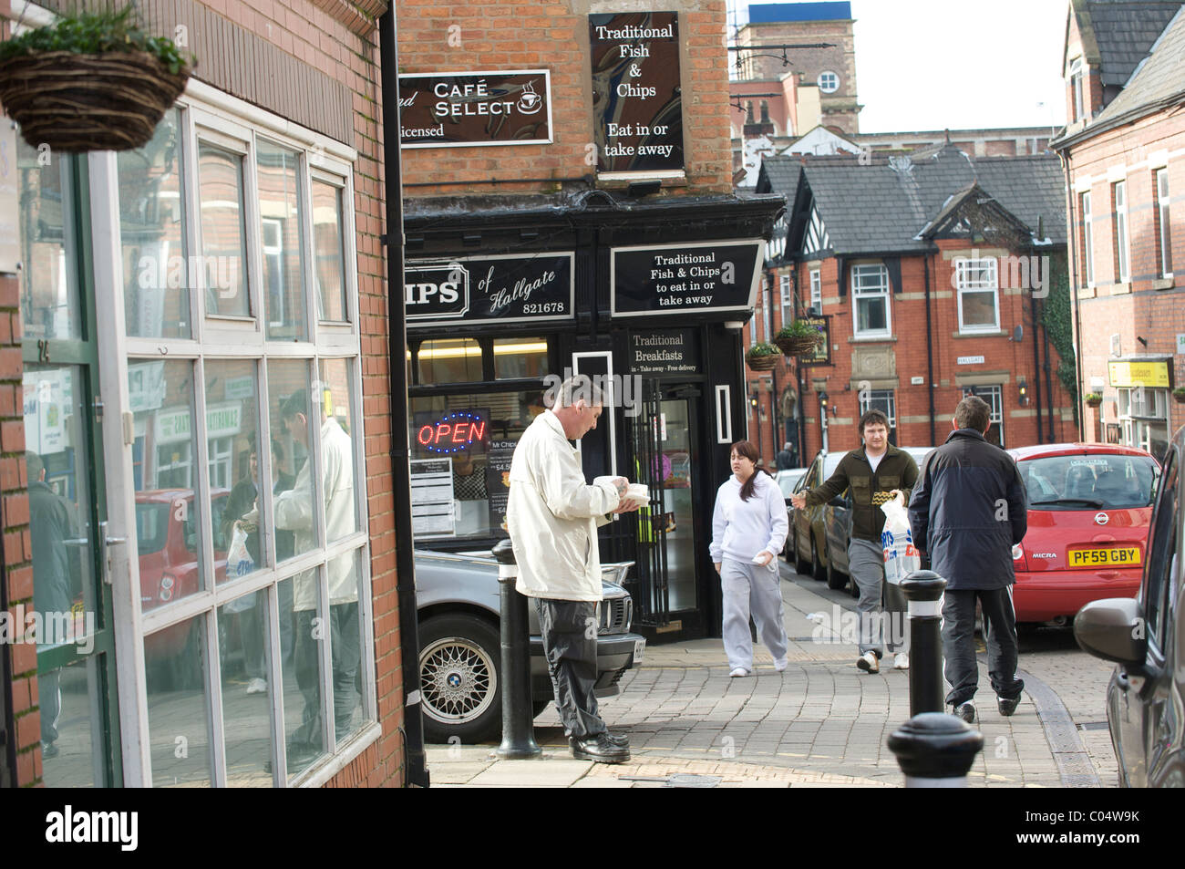 Wigan fish and chip shop - Stock Image