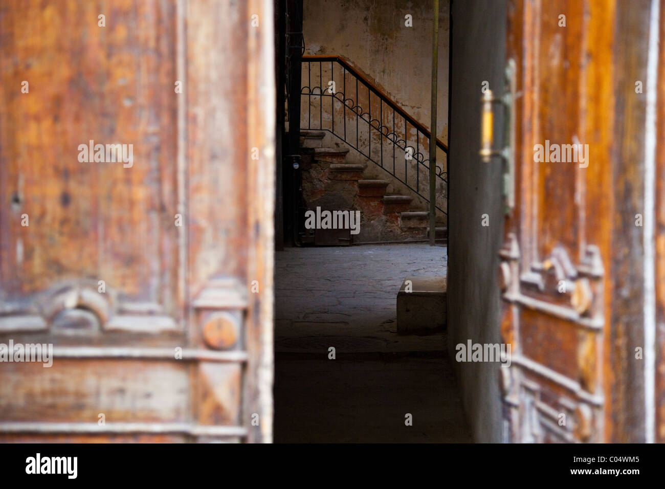 Doorway in the Old Town of Baku, Azerbaijan - Stock Image