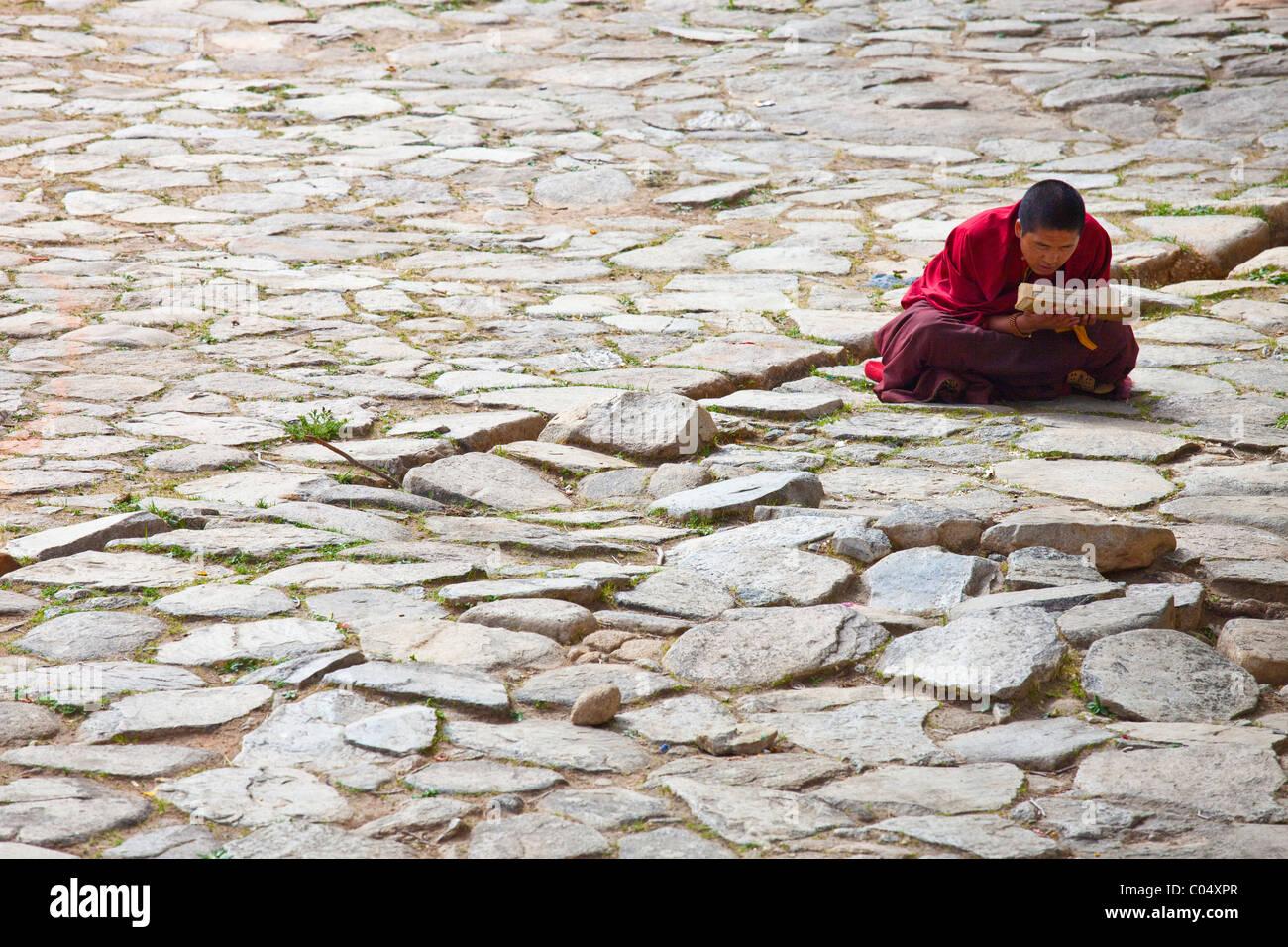 Puntsoling Monastery, Tibet - Stock Image
