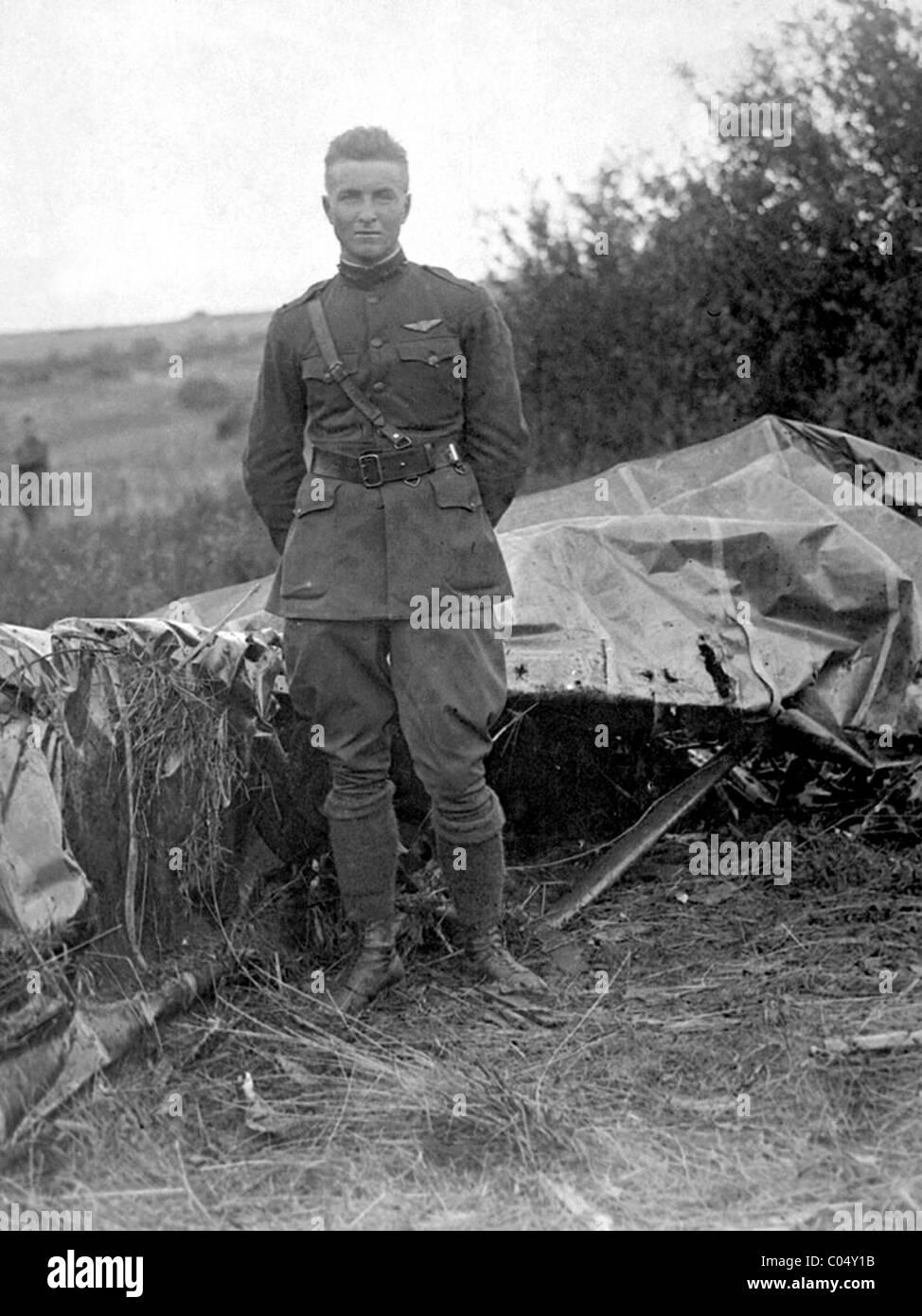 Lt. Frank Luke was an American fighter ace in World War I - Stock Image