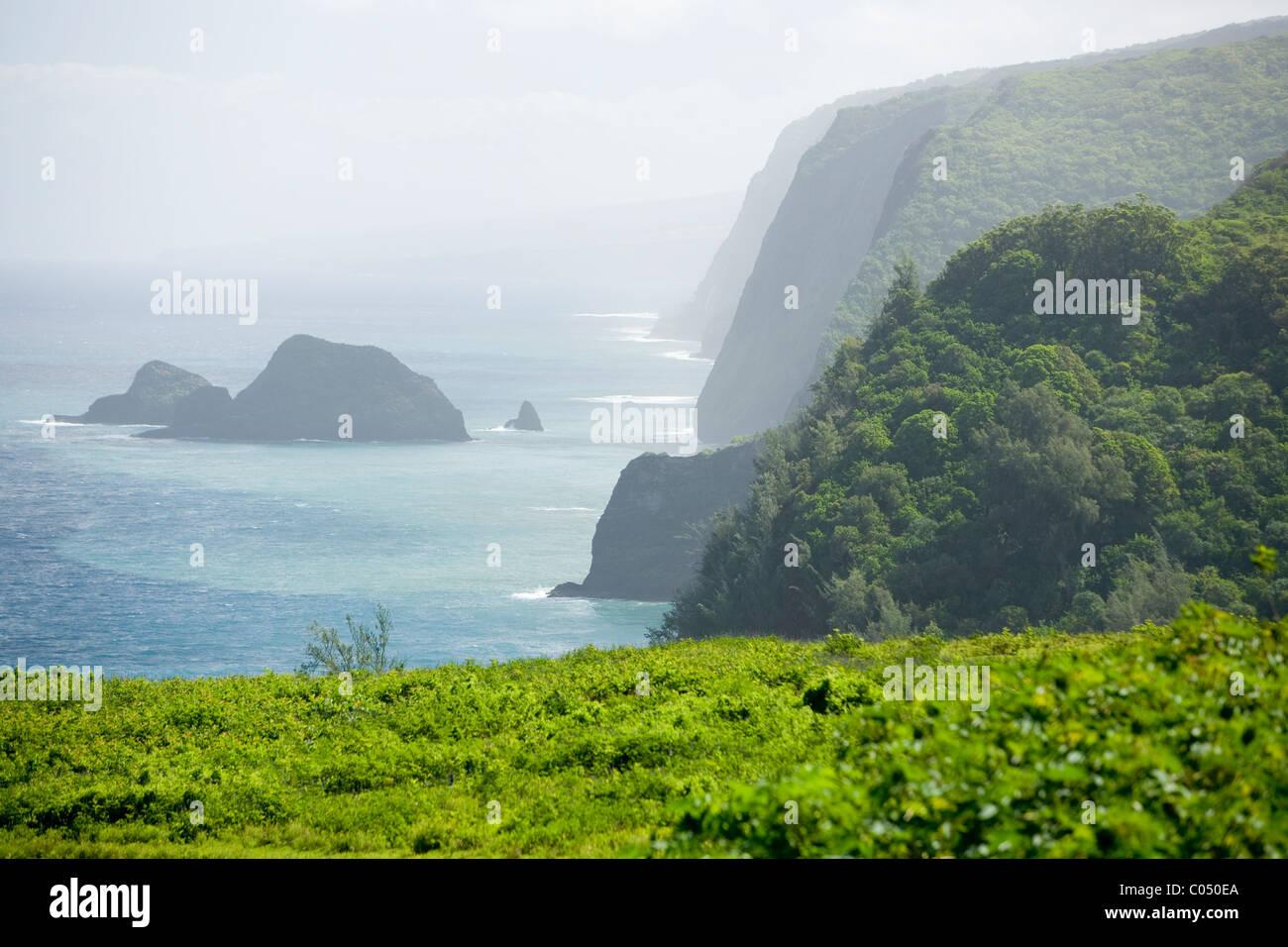 Pololu Valley, Hawaii Stock Photo