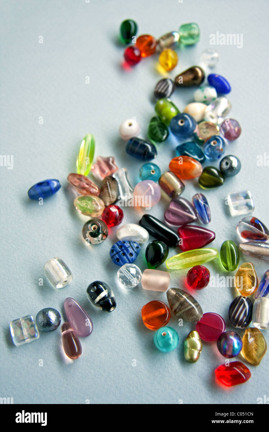 Various Glass Beads - Stock Image