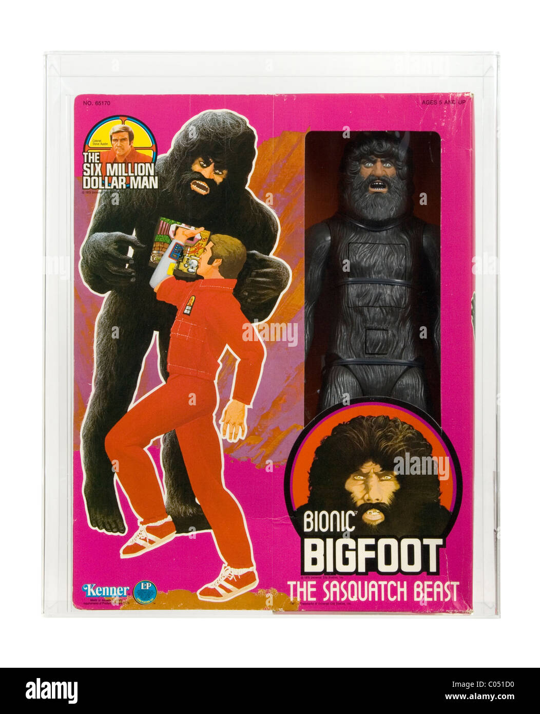 1977 Bionic Bigfoot From The Six Million Dollar Man Series Made By Kenner Misb Nrfb Afa 75 Ex Nm Excellent Near Mint