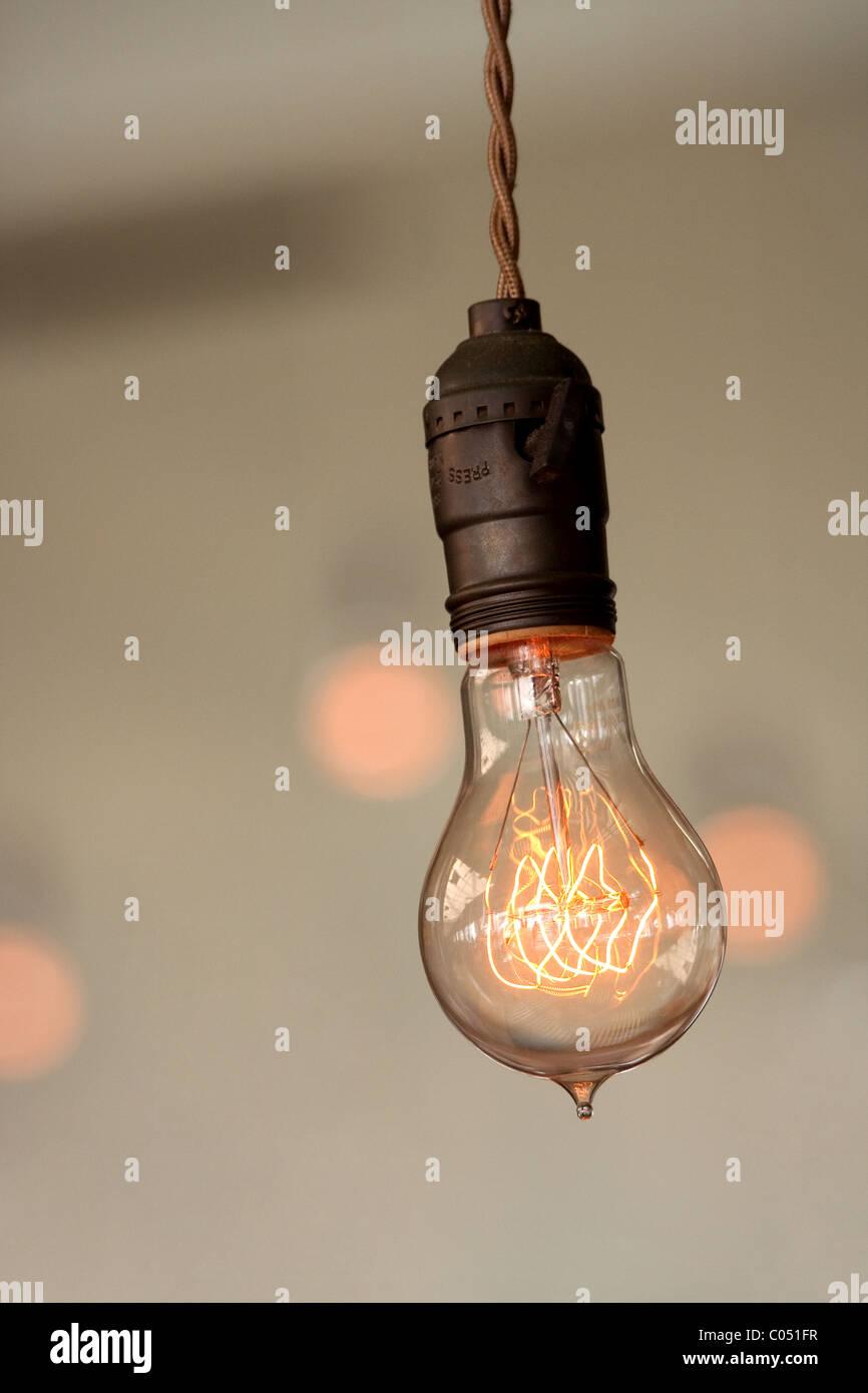 Retro light bulb - Stock Image