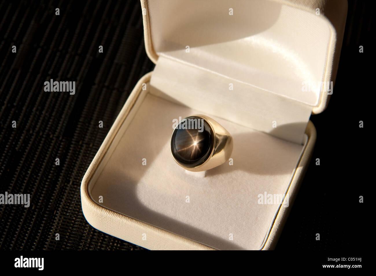 Star Sapphire Ring - Stock Image