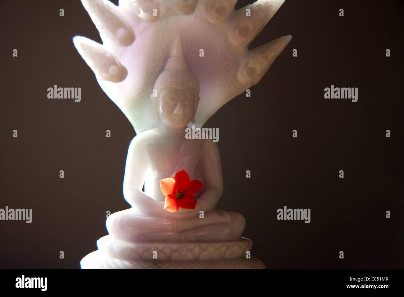 Jade Naga Buddha - Stock Image