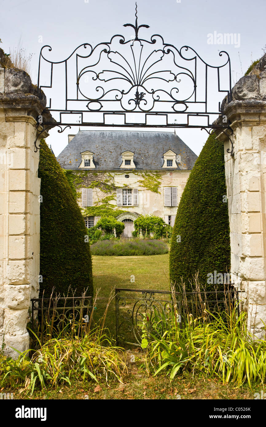 Chateau de Chaintres in Saumur Champigny region of the Loire Valley, France - Stock Image