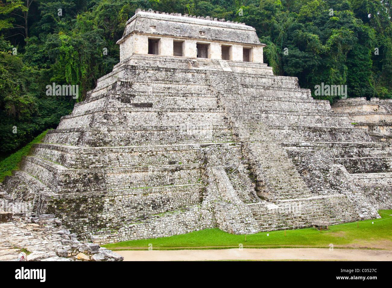 Temple of Inscriptions or Templo de Inscripciones, Palenque, Chiapas, Mexico - Stock Image