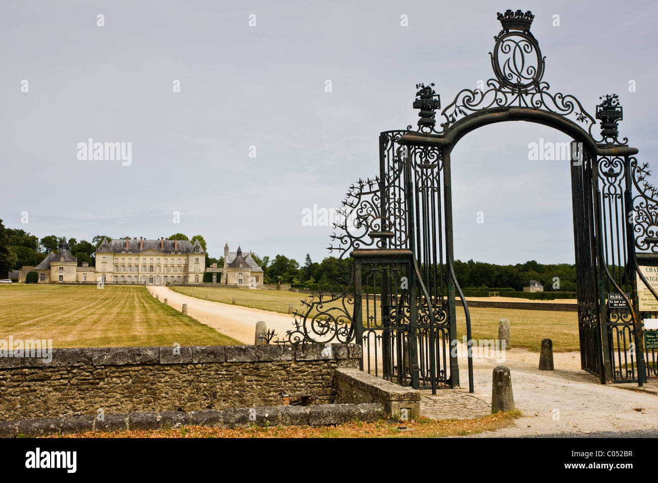 Chateau de Montgeoffroy, 18th Century manor house, by architect Jean-Benoit-Vincent Barre near Angers, Loire Valley, - Stock Image
