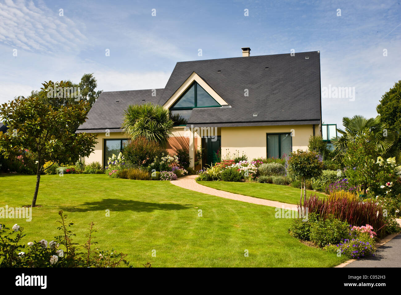 Typical French Modern Bungalow House At Ernee In Normandy France Stock Photo Alamy