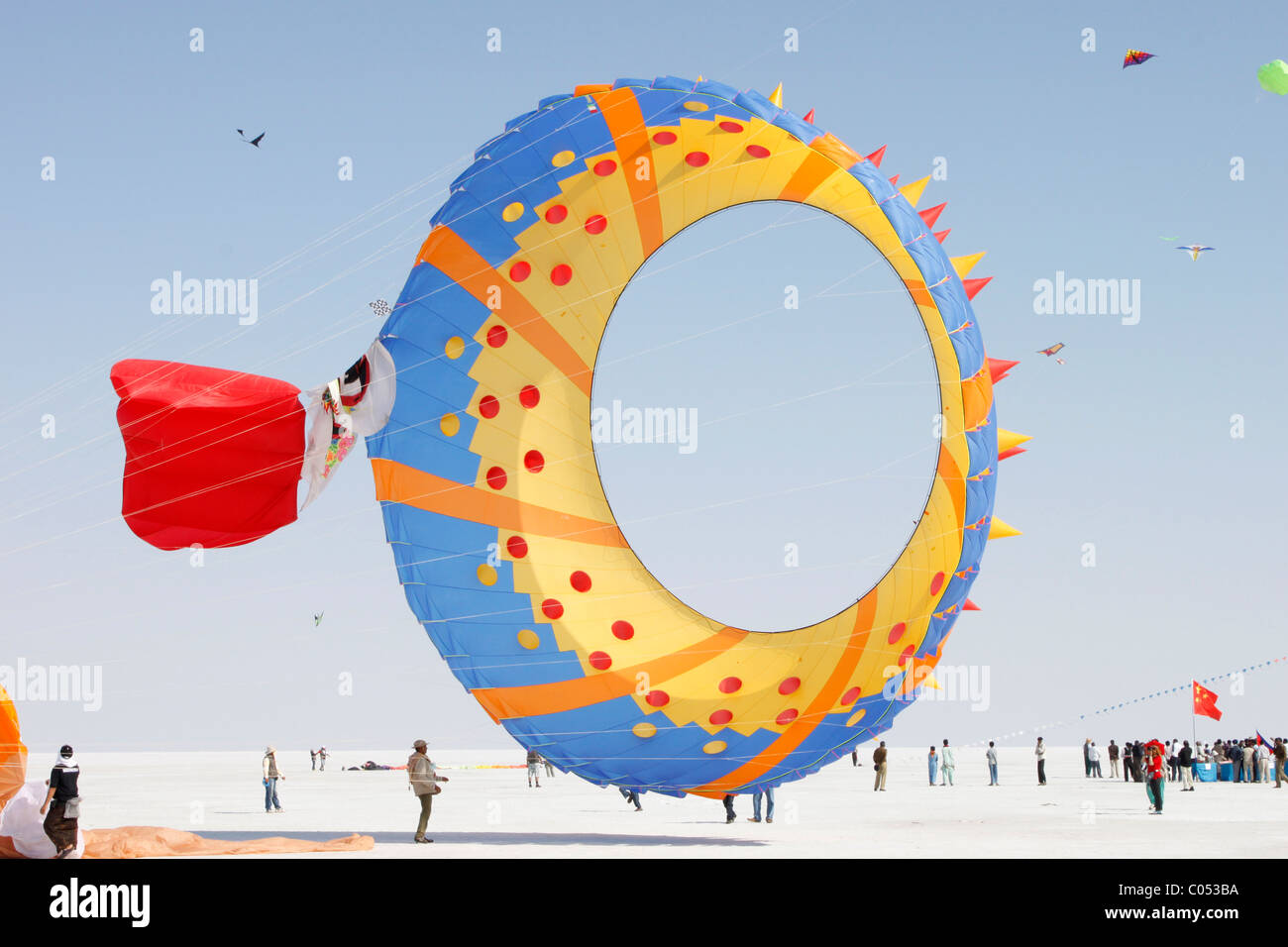 Kite festival in Rann of Kutch, Gujarat,India - Stock Image