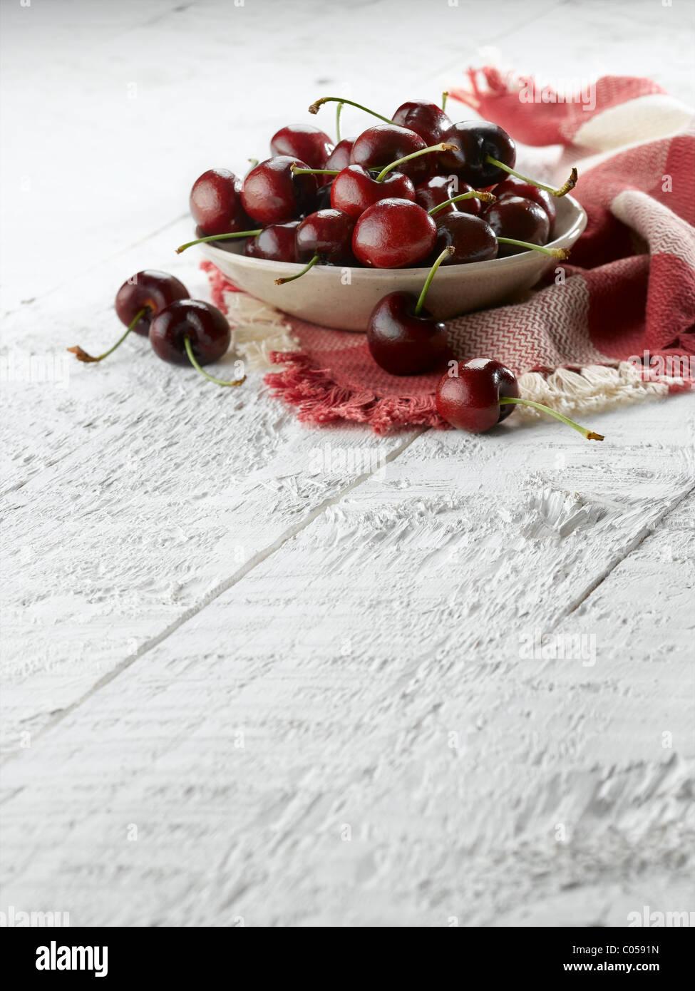 red cherries - Stock Image