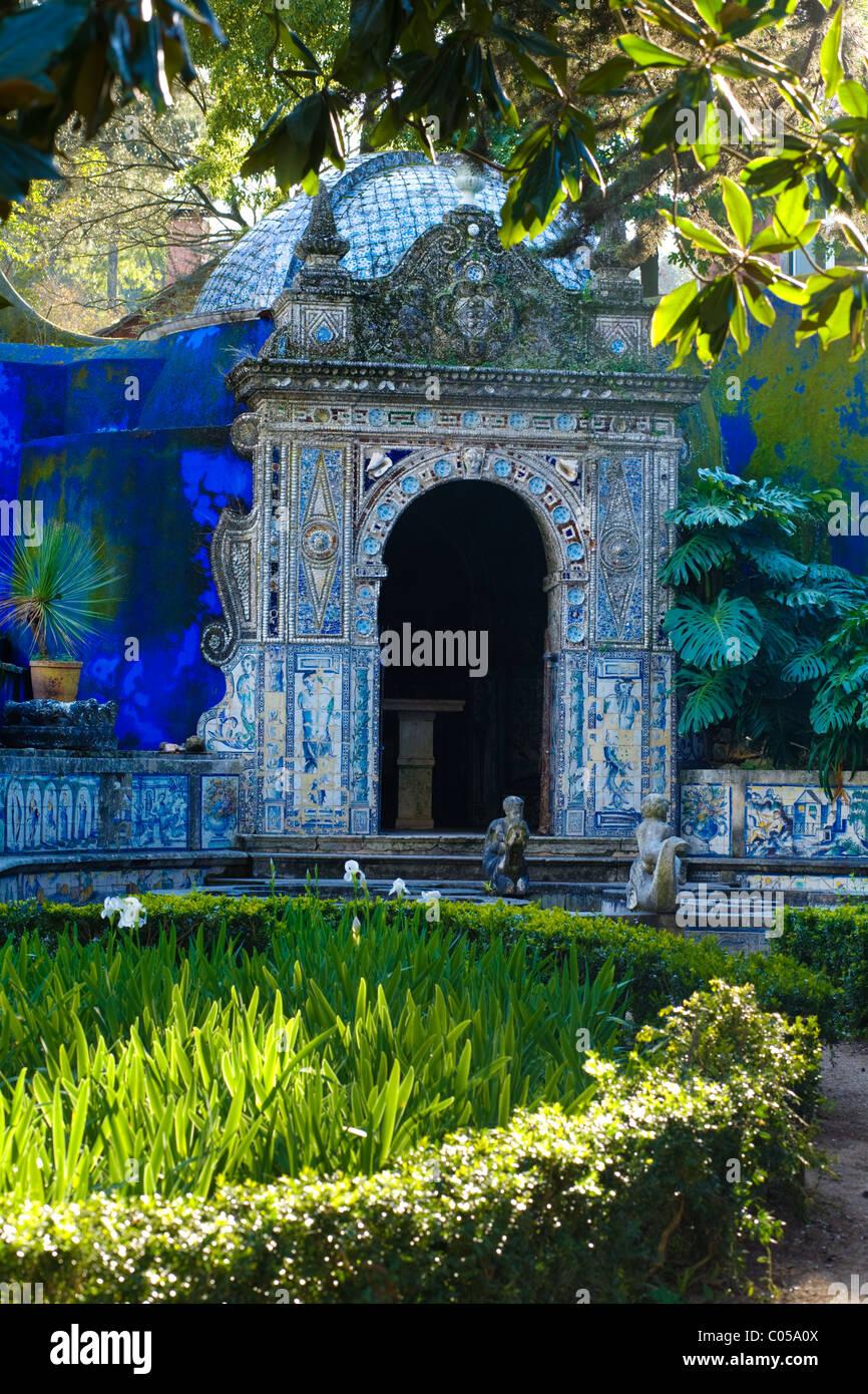 In the gardens at Palacio Fronteira, Lisbon, Portugal - Stock Image