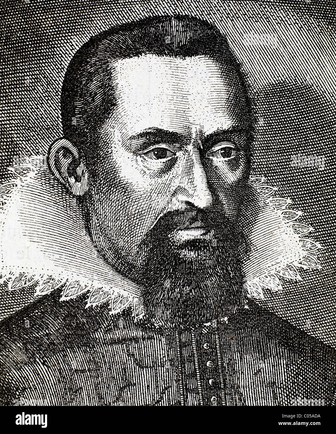 Kepler, Johannes (1571-1630) German mathematician and astronomer. Considered the founder of modern astronomy. Engraving. - Stock Image