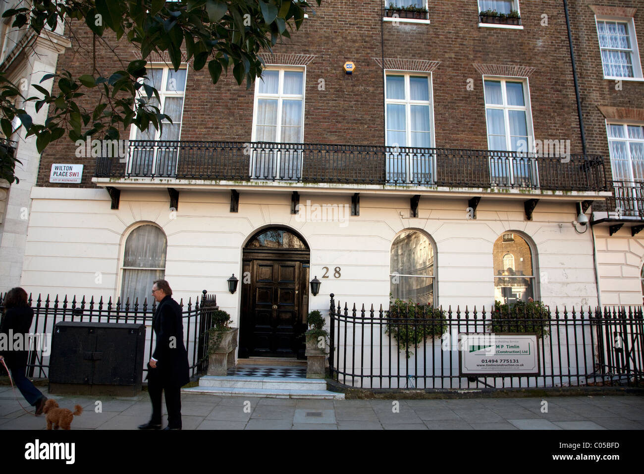 Belgravia townhouse in London said to be owned by Gamal Mubarak - Stock Image