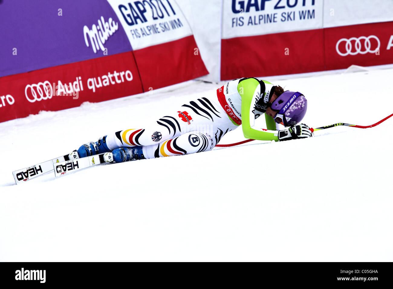Maria Riesch (GER), at the FIS Alpine World Ski Championships in Garmisch-Partenkirchen 2011 - Stock Image