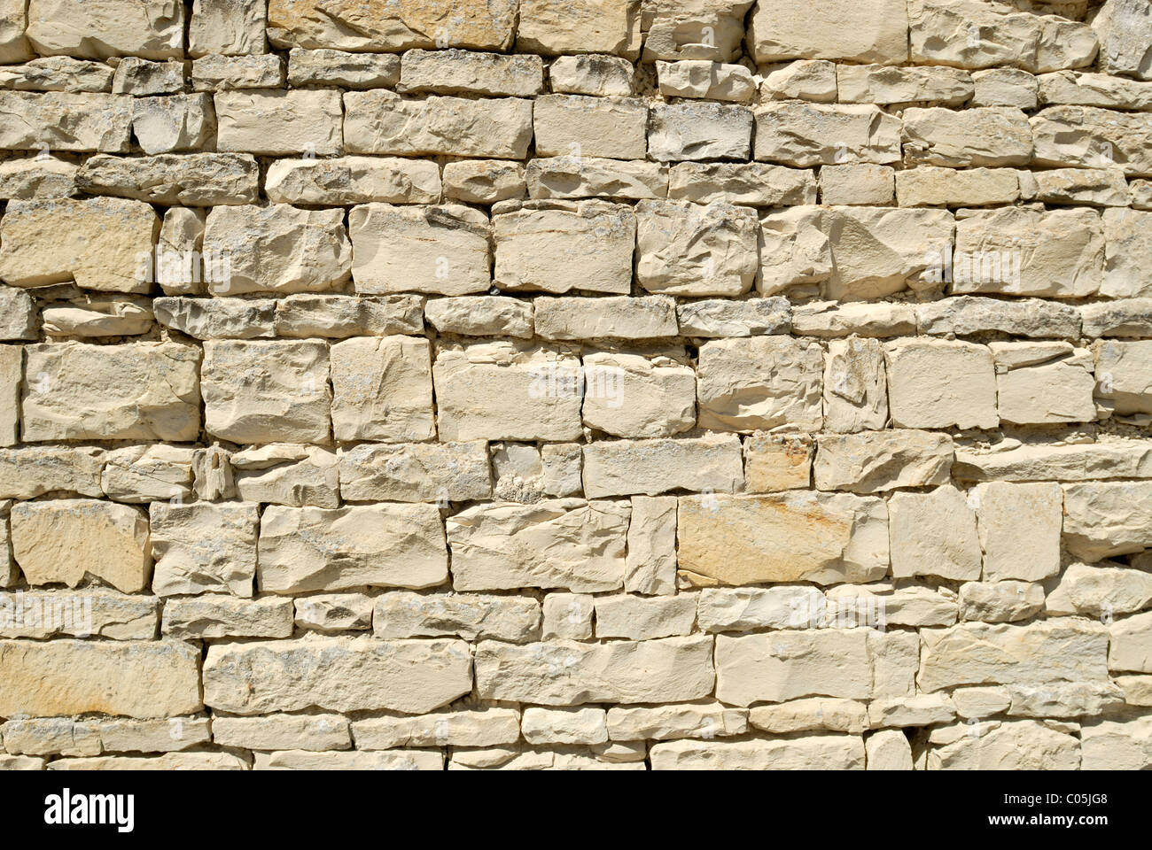 Section Of A Exterior Limestone Wall Used To Build Many The Older Homes In Smaller