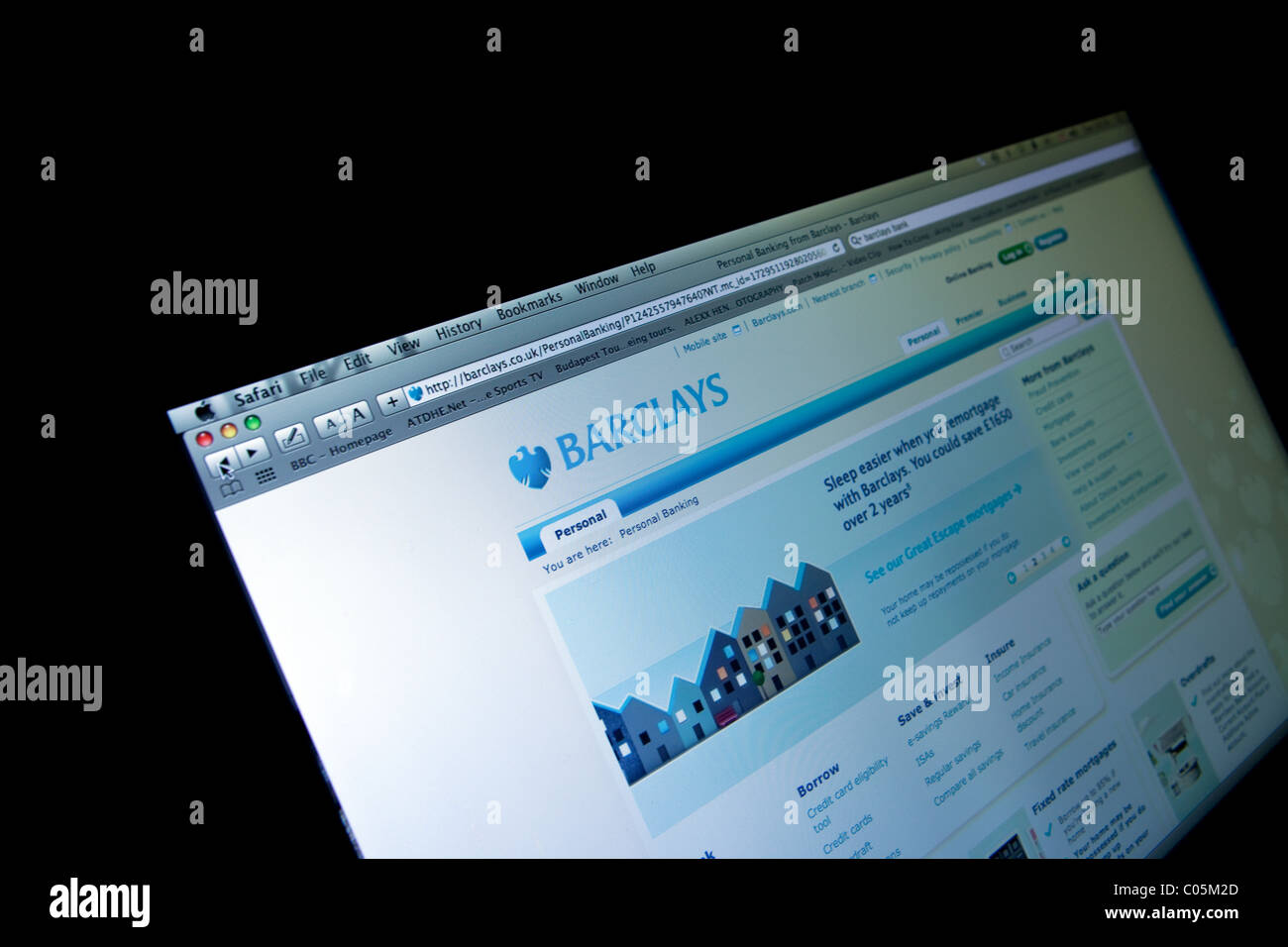 Barclays Bank on-line banking home page - Stock Image
