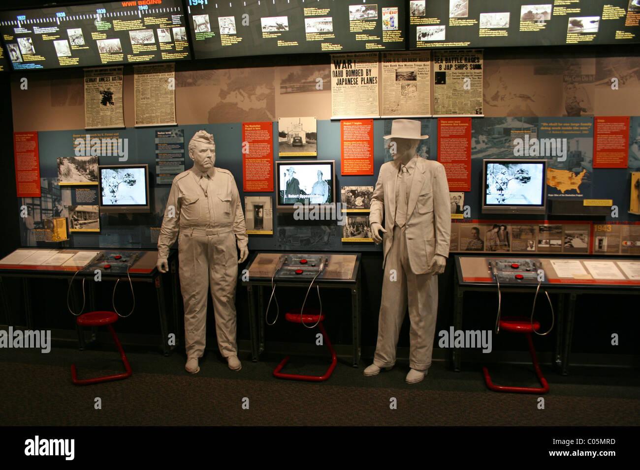 Bradbury Museum in Los Alamos, New Mexico.  Story of Manhattan Project - Stock Image