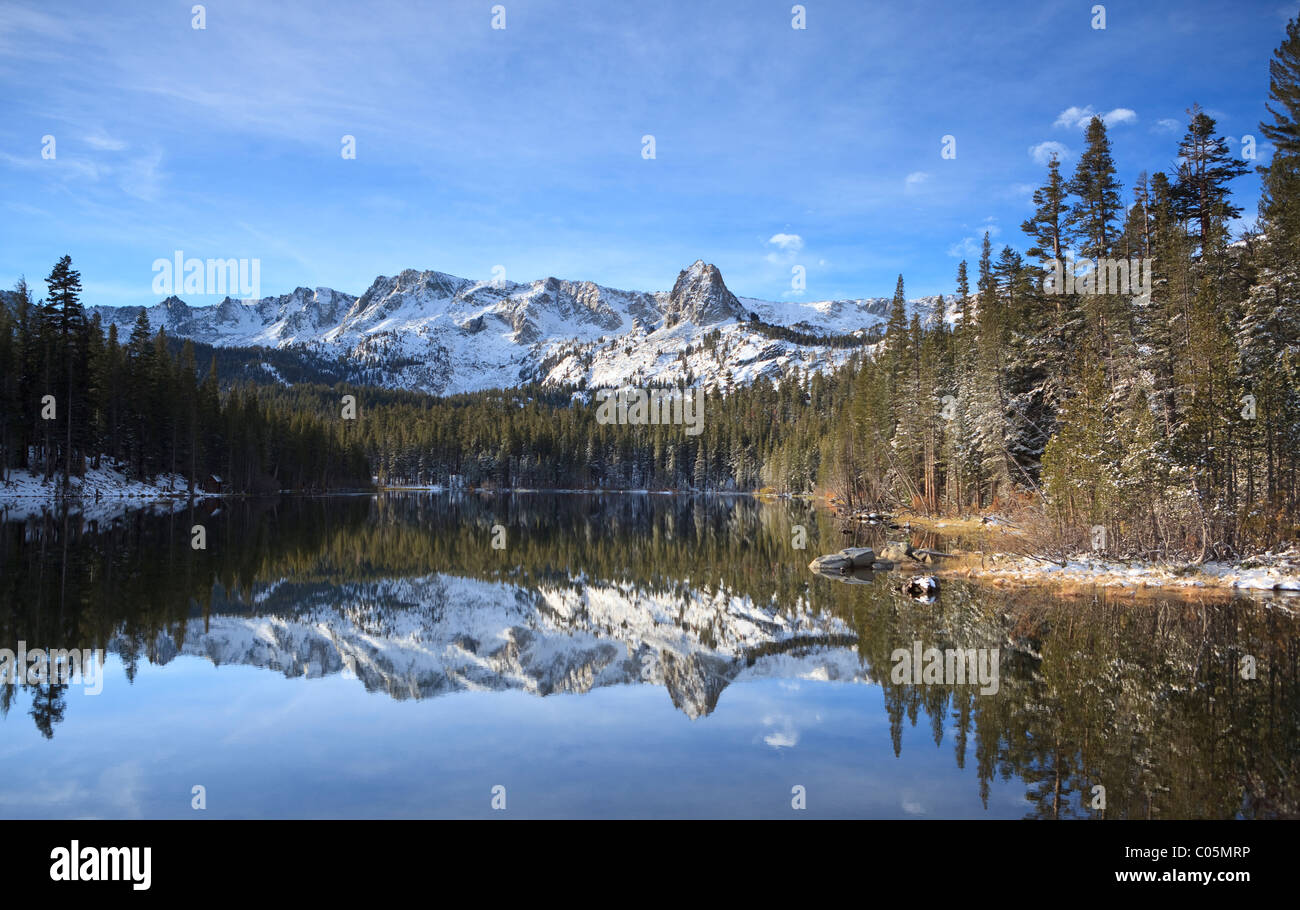 Winter Reflections At Mammoth Lakes In Sierra Nevada California