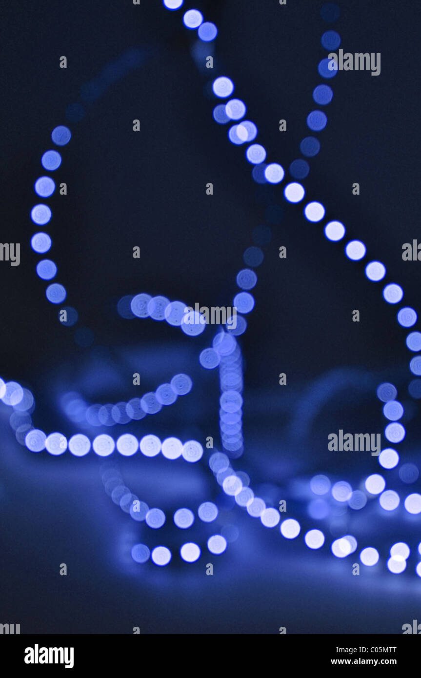 out of focus light pattern circles background - Stock Image