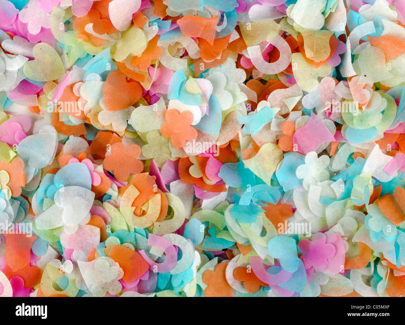 Pile of conffetti - Stock Image