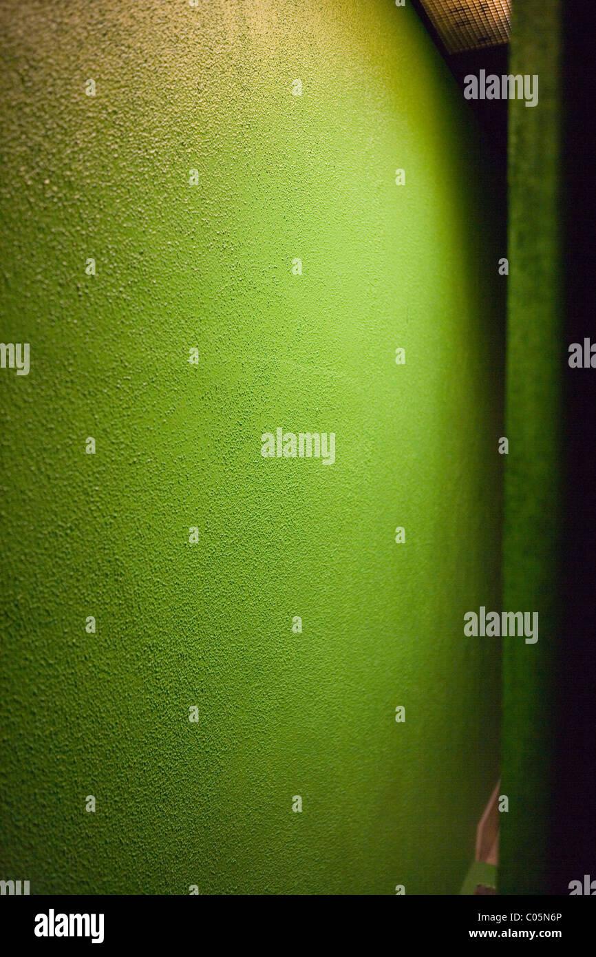 abstract green wall - Stock Image