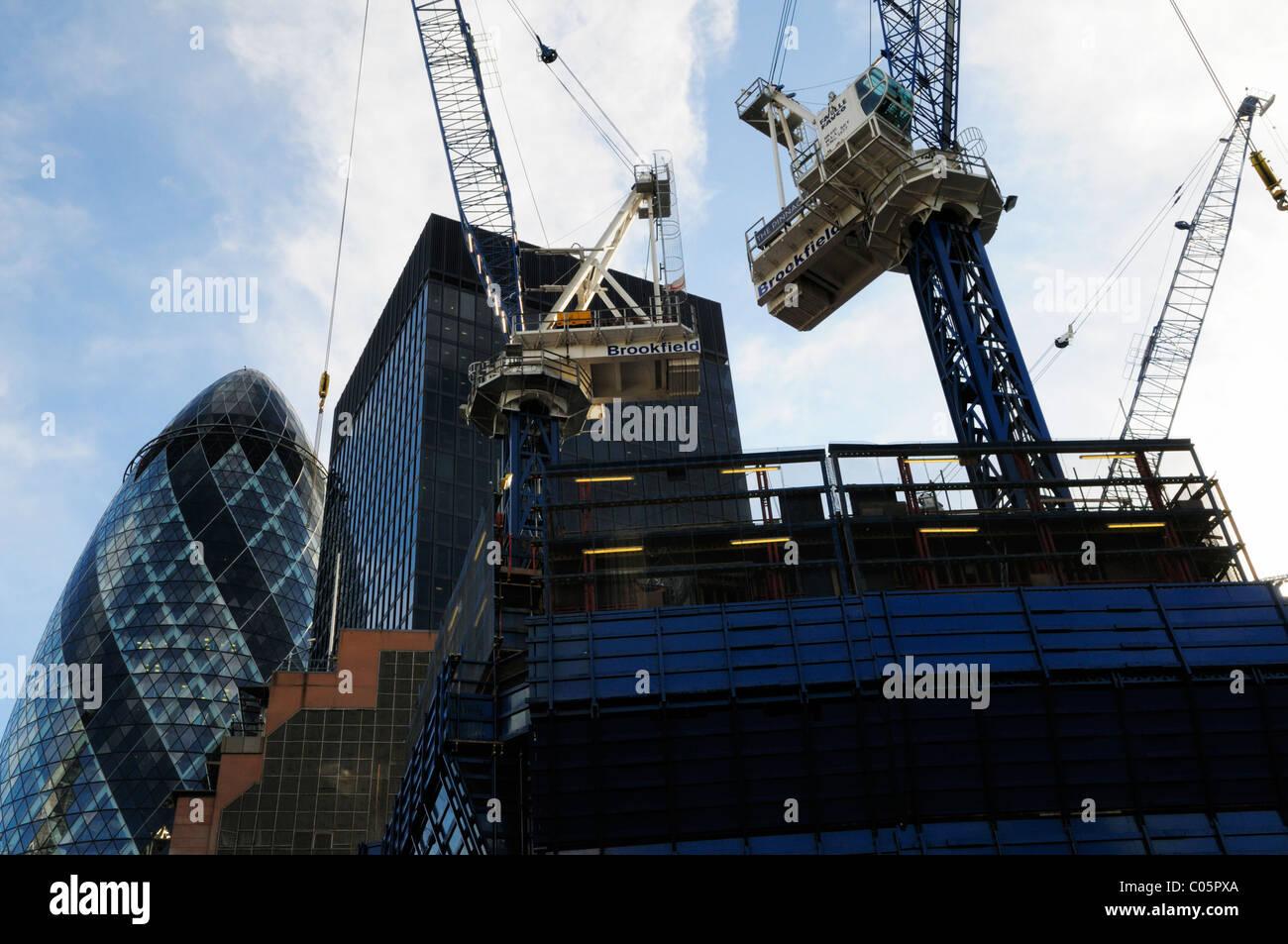The London Pinnacle Bishopsgate tower building site, Bishopsgate, London, England, UK - Stock Image
