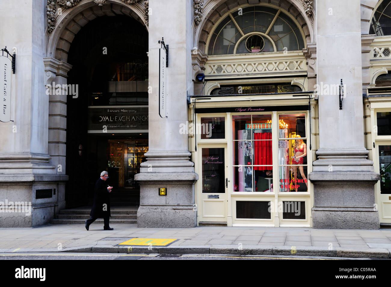 The Royal Exchange Luxury Shops, Cornhill, London, England, UK - Stock Image