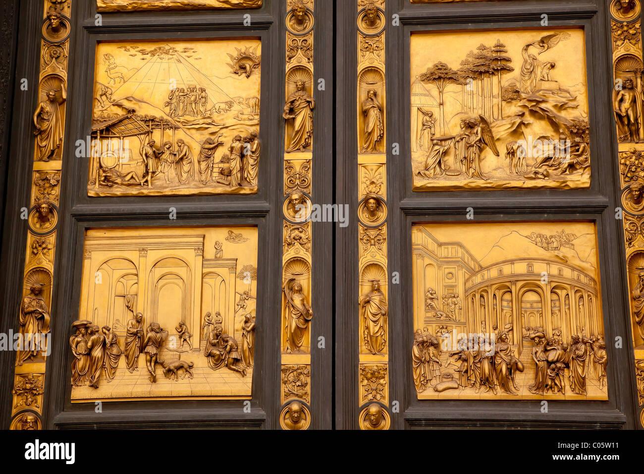 Ghiberti Paradise Baptistery Bronze Door Duomo Cathedral Florence Italy - Stock Image & Ghiberti Door Stock Photos u0026 Ghiberti Door Stock Images - Alamy